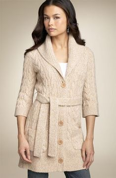 Hırka modelleri yapılış şekli Winter Dress Outfits, Fall Winter Outfits, Long Cardigan, Sweater Cardigan, Gillet, Sweater Coats, Cardigans For Women, Knitted Hats, Knitwear