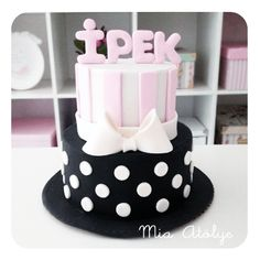 Birthday cake – Fashion and Street Styles on Internet Cake Designs For Kids, Candy Birthday Cakes, Birtday Cake, Baby Girl Cakes, Pastry Art, Birthday Design, Easy Cake Recipes, 1st Birthday Girls, Fondant Cakes