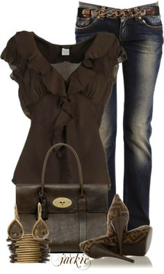 Get Inspired by Fashion: Stylish Outfits | Pumps and Denim