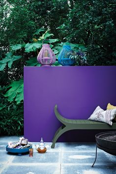 Brighten up an exterior wall with bold colours