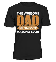 Personalised This Awesome Grandad Belongs To Mens Funny Father/'s Day Hoodie