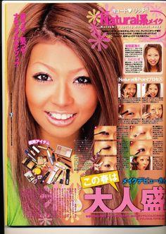 Gyaru Makeup, Eye Makeup, Makeup Stuff, Nose Contouring, Gyaru Fashion, 80s And 90s Fashion, Circle Lenses, Dramatic Makeup, Japanese Street Fashion