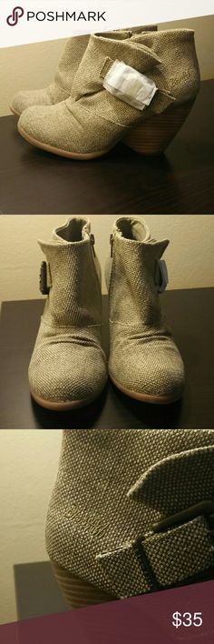 Canvas booties Blowfish canvas booties. Gorgeous color! Too big for me, unfortunately. Blowfish Shoes Ankle Boots & Booties