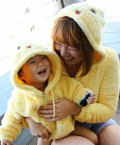 Mother-child Funassyi hoodies