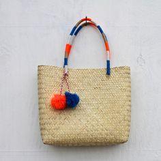 Pompom Wow Tehuacan Basket Bag