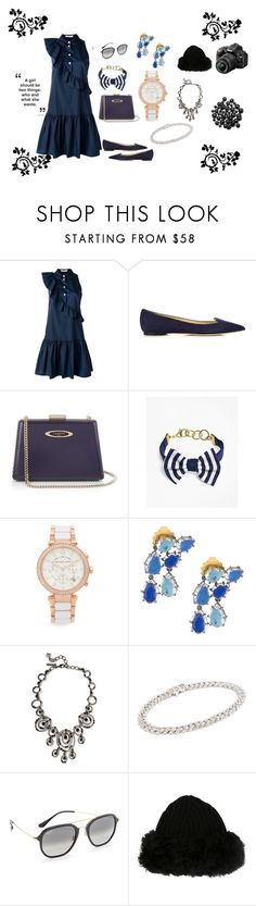 """Time to celebrate party ..."" by jamuna-kaalla ❤ liked on Polyvore featuring VIVETTA, Jimmy Choo, Lanvin, Brooks Brothers, Michael Kors, Oscar de la Renta, Shay, Ray-Ban, Dolce&Gabbana and Nikon"