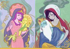 Virgin Mary Princess Bubblegum and Virgin Mary Marceline