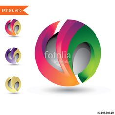 3D Sphere logo letter Vn_This stunning logo design was created by AMCstudio