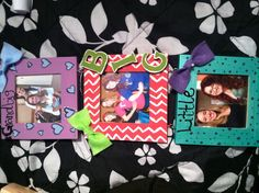 This is a cute idea! Get the wooden frames from Wal-Mart and then craft away! :)