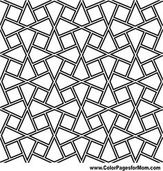 Illustration of persian islamic pattern or traditional knot arabesque vector art, clipart and stock vectors. Geometric Coloring Pages, Pattern Coloring Pages, Coloring Book Pages, Coloring Sheets, Coloring Stuff, Arabesque Design, Celtic, Stencils, Stained Glass Patterns