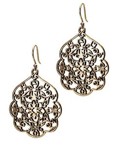 Gold Thai Butterfly Earrings From Lucky Brand