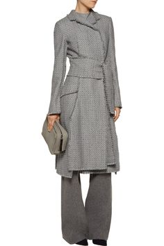 Shop on-sale Proenza Schouler Frayed tweed coat. Browse other discount designer Coats & more on The Most Fashionable Fashion Outlet, THE OUTNET.COM