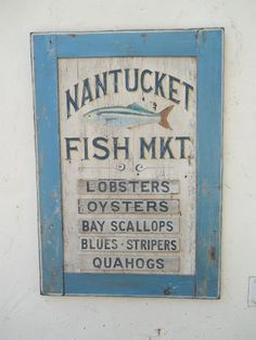 Nantucket Signs and Folk Art