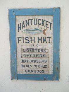 Nantucket Signs and Folk Art