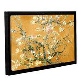 Found it at Wayfair - 'Almond Blossom-Interpretation in Merigold Orange' by Vincent Van Gogh Framed Painting Print on Canvas