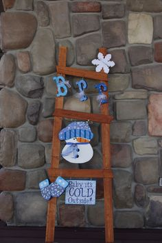 Creative Christmas DIY Decorations Easy and Cheap – Holiday Ladders Christmas Wood Crafts, Snowman Crafts, Christmas Signs, Christmas Projects, Holiday Crafts, Christmas Crafts, Cheap Holiday, Christmas Ornaments, Christmas Ideas