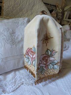 Antique French church altar ciborium veil handpainted roses on velvet w gold bullion 4 religious tabernacle blessed sacrament church fabric by MyFrenchAntiqueShop on Etsy