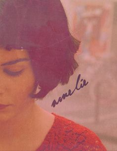"Amelie avec Audrey Tautou ~ Hipolito (The Writer): ""We pass the time of day to forget how time passes."""