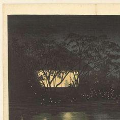 De Komoro rivier bij Tennoji, Kobayashi Kiyochika, Fukuda Kumajirô, 1880 - J-Collected Works of Aldo Beer - All Rijksstudio's - Rijksstudio - Rijksmuseum
