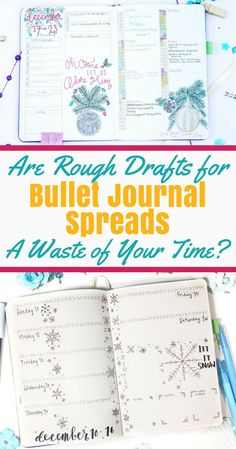 Optimizing your bujo isn't always the easiest task! Do you ever feel like you could make your bullet journal spreads just a bit better? Have you considered creating rough drafts for bullet journal layouts? Read about my personal experience of trying rough Bullet Journal Printables, Bullet Journal How To Start A, Bullet Journal Spread, Bullet Journal Layout, Bullet Journal Inspiration, Bullet Journals, Bujo, Journal Pages, Journal Ideas