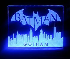 Gotham the dark knight batman led desk light / by HeroLights