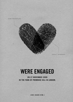 darling engagement announcements (+ she asked him!)