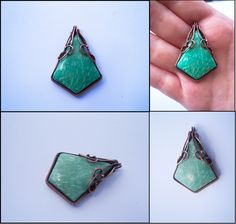 Amazonite with copper wire