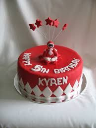 Image result for red power ranger cakes