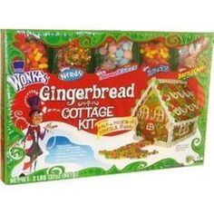 Wonka Gingerbread House (Cottage) Candy Kit with Runts, Nerds, Sweetarts and Bottlecaps for trim  $14.97