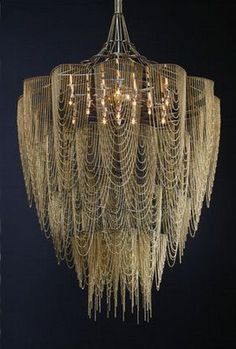 chandelier made from draped chain (scheduled via http://www.tailwindapp.com?utm_source=pinterest&utm_medium=twpin&utm_content=post6254702&utm_campaign=scheduler_attribution)