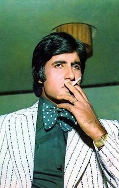 """Amitabh Bachchan Film actor Amitabh Harivansh Bachchan is an Indian film actor. He first gained popularity in the early for movies like Deewar and Zanjeer, and was dubbed India's first """"angry young man"""" for his on-screen . Bollywood Posters, Bollywood Cinema, Bollywood Actors, Bollywood Celebrities, Bollywood Fashion, Film World, Bollywood Pictures, Thing 1, Vintage Bollywood"""