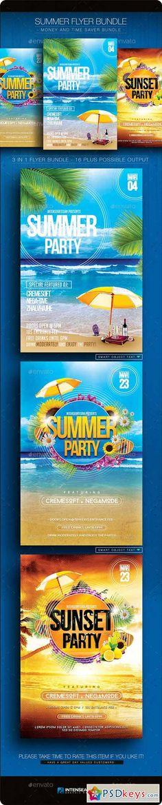 Summer Flyer Bundle V.1 10903746