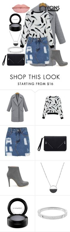 """""""Ripped Denim"""" by reemarie on Polyvore featuring White House Black Market, MAC Cosmetics, Michael Kors, women's clothing, women, female, woman, misses, juniors and denim"""