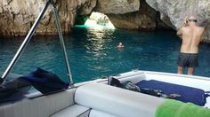 Lovely swim in Green grotto in Capri by Tornado '38 of Amalficharter.  Visit us on www.amalficharter.it and choice your favorite excursion.