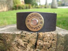 Shotgun Girl Leather Cuff Bracelet
