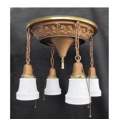 Sharing is caring!  L16060 - Antique Colonial Revival Four Light Pan Fixture #https://www.pinterest.com/munlimited/