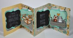 Sizzix Accordion Album and Frame & Label, Bracket dies. Lovin The Life I Color: Im Back from an Amazing Trip and Missing my Crafty Friends!!