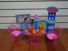 Barbie Size Dollhouse Furniture - Cafe House Play Set New #DoesNotApply