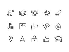 Car Navigation Icons by kazuya horikirikawa https://dribbble.com/shots/2771123-Car-Navigation-Icons #zeeenapp