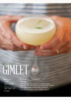 fresh gimlet | recipe be gingerandbirch | image by lily glass