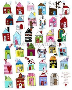 Doodle Art Journal Posts 56 Ideas For 2019 Doodle Drawings, Doodle Art, Bird Doodle, House Quilts, Doodles Zentangles, Art Lessons, Home Art, Art For Kids, Art Projects