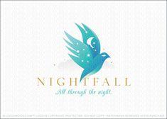 Night Time Flying Bird Religious Logo For Sale Sky Logo, Moon Logo, Branding Design, Logo Design, Bird Flying, Bird Logos, Wings Logo, Medical Logo, Bird Wings