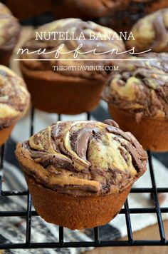 Nutella Banana Muffin Recipe. These are so good!