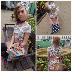 Scene girl romantic outfit 2 T-shirt : reserved kids Headband : SIX Choker : ebay Skirt : terranova Bags : crazy cat   ChibiMikuXx