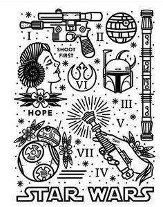 Diseño gráfico star wars