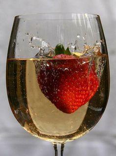 Frozen fruit keeps wine chilled