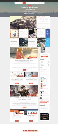 Blog Magazine Web Design by vasiligfx.deviantart.com on @deviantART