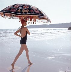 Algarve, Portugal for  Vogue July 1973  By: Norman Parkinson