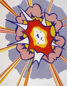 ROY LICHTENSTEIN [Explosion] signed original [POP ART] print [COA]
