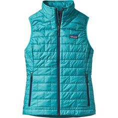 Patagonia Womens Nano Puff Vest ($149) ❤ liked on Polyvore featuring blue and patagonia